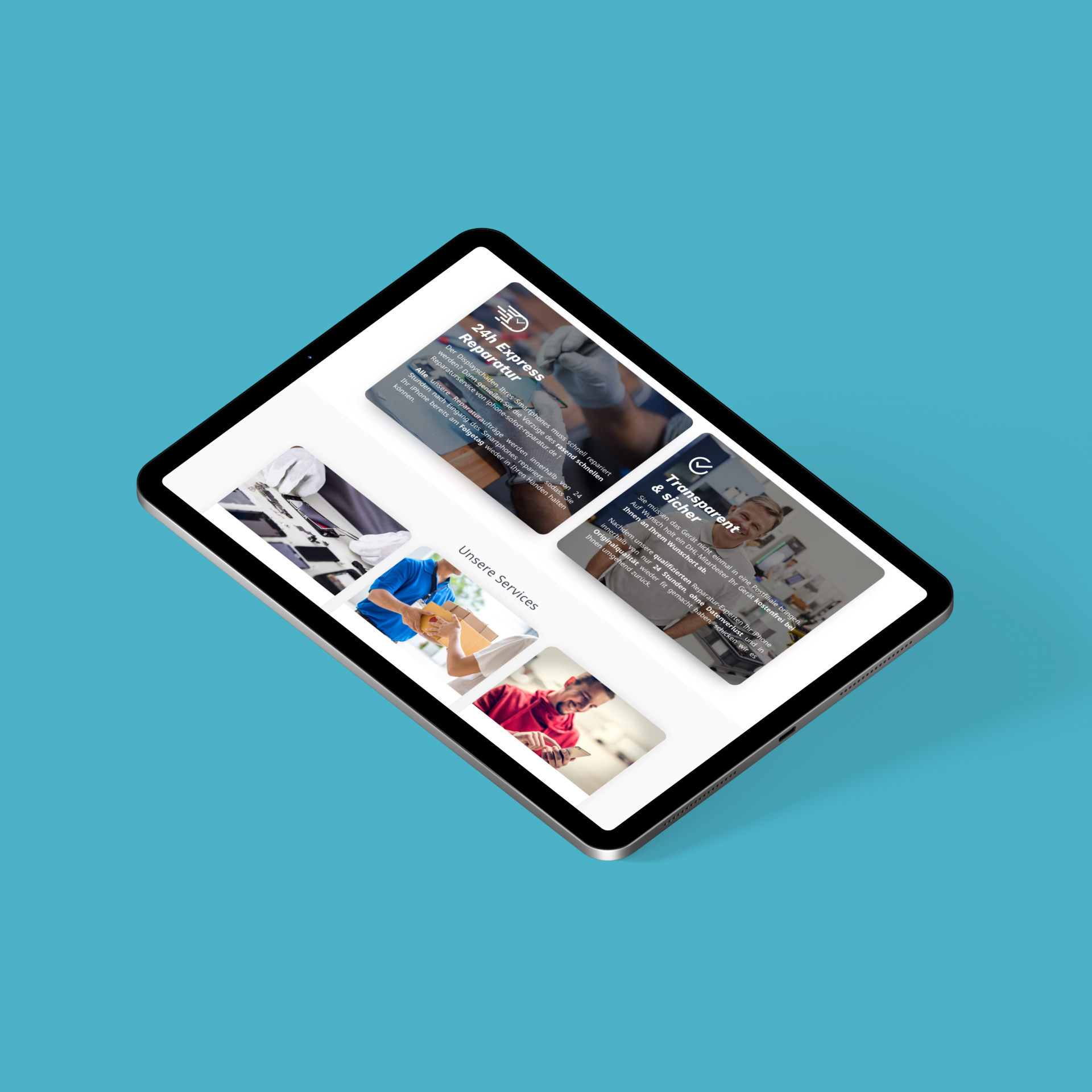 isr shopify service selling case study ipad mockup