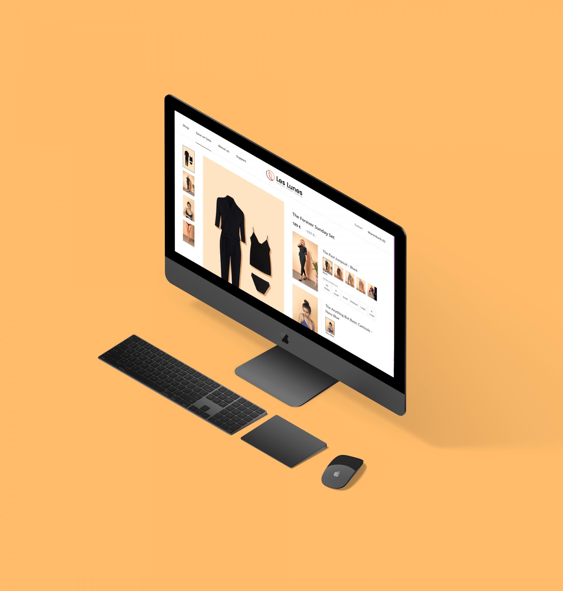 les lunes shopify bundle case study desktop mockup